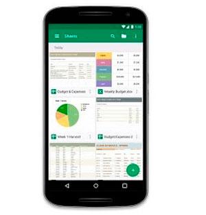 Гугл таблицы на смартфоне