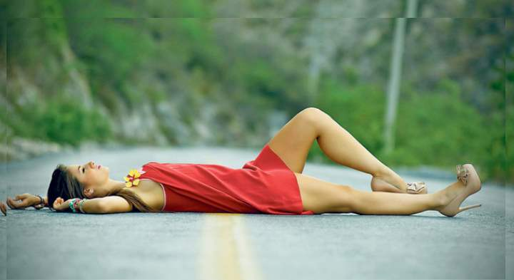 Расслабление тела на асфальте