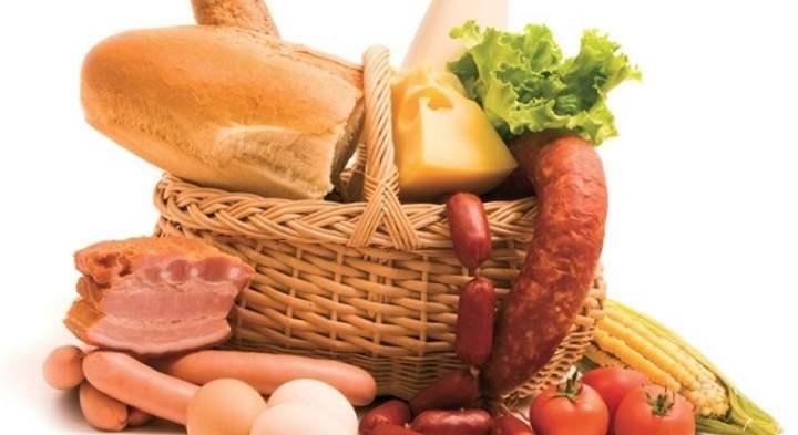 Корзина с белками и углеводами