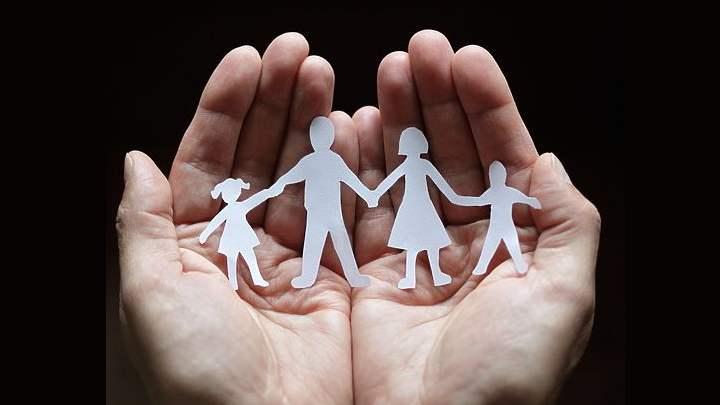 Аппликация про семью