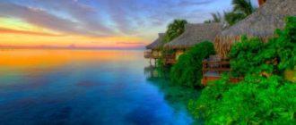 Восход солнца в деревне