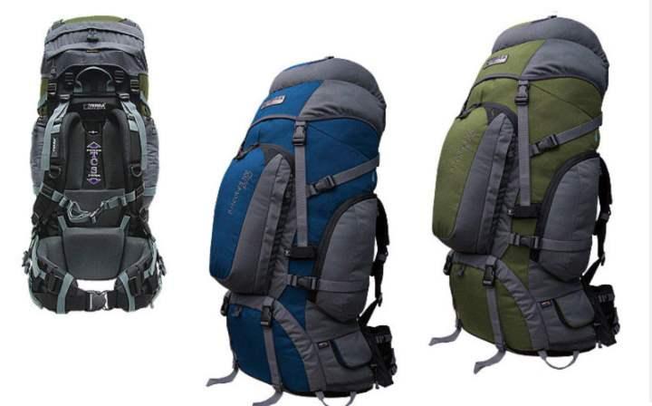 опытные путешественники выбирают туристические рюкзаки объемом примерно на 45 - 60