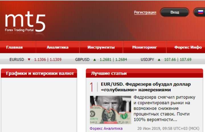 Скрин с сайта мт5 форум