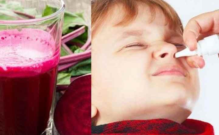либо смешать с медом (1 часть меда на 2.5 части сока). При густых выделениях нос можно промывать соком вареной свеклы.