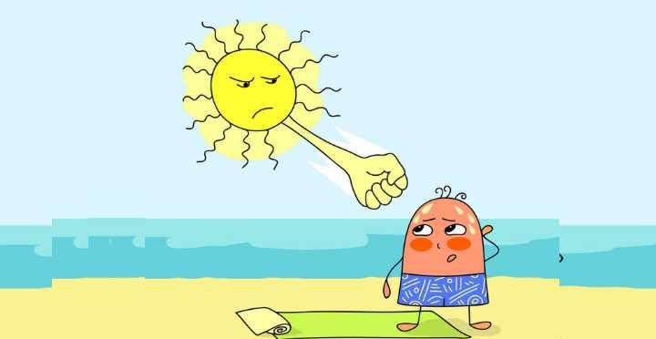 Исключите нахождение вне дома в самое жаркое время дня, либо ограничьте это время до минимума.