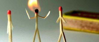 Спичками выгорание