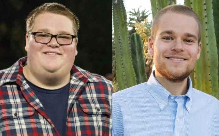 Полный парень похудел