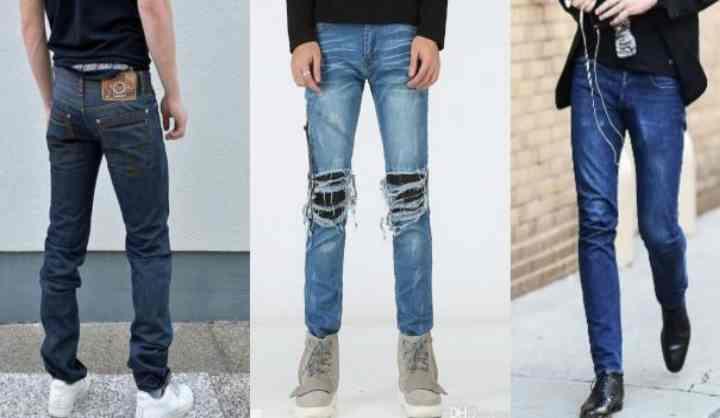 Имеется три кроя мужских джинсов