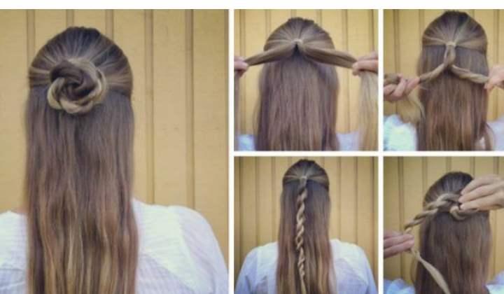 Для создания такого повседневного образа потребуется подготовить резинки для волос, шпильки и невидимки