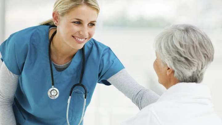 На приеме пожилой пациент