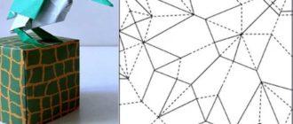 ворона-оригами