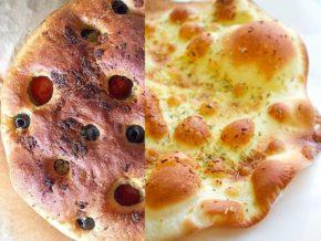 Фокачча с добавлением сыра и чеснока