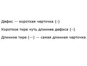 Правила русского языка, когда нужно ставить тире