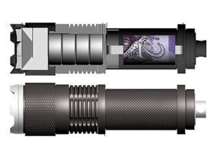 Начинку» фонарика следует удалить, заменив ее аккуратно упакованными деньгами, либо, к примеру, запасными ключами от квартиры или сейфа.