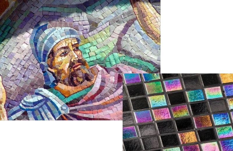 Легче всего клеить мозаику