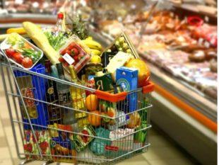 Овощи и фрукты, размещенные на полипропиленовой подложке
